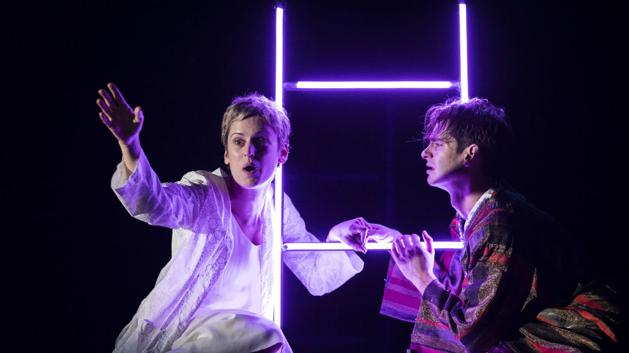 Denise Gough (Harper) and Andrew Garfield (Prior) in Angels In America - Perestroika