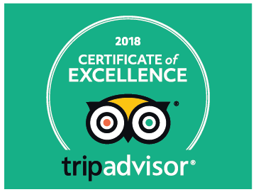 Tripadvisor certificate of excellence for 2018 logo