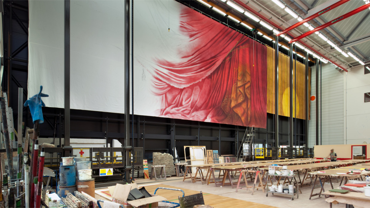 The Scenic Paint Studio at the National Theatre
