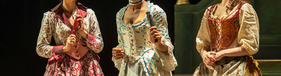 Three costumes from The Beaux Stratagem