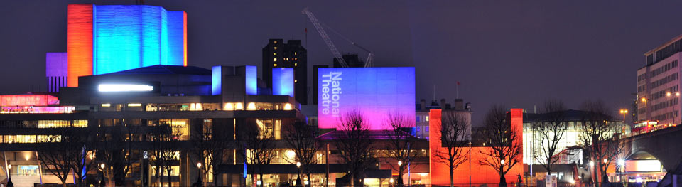 National Theatre exterior with Temporary Theatre