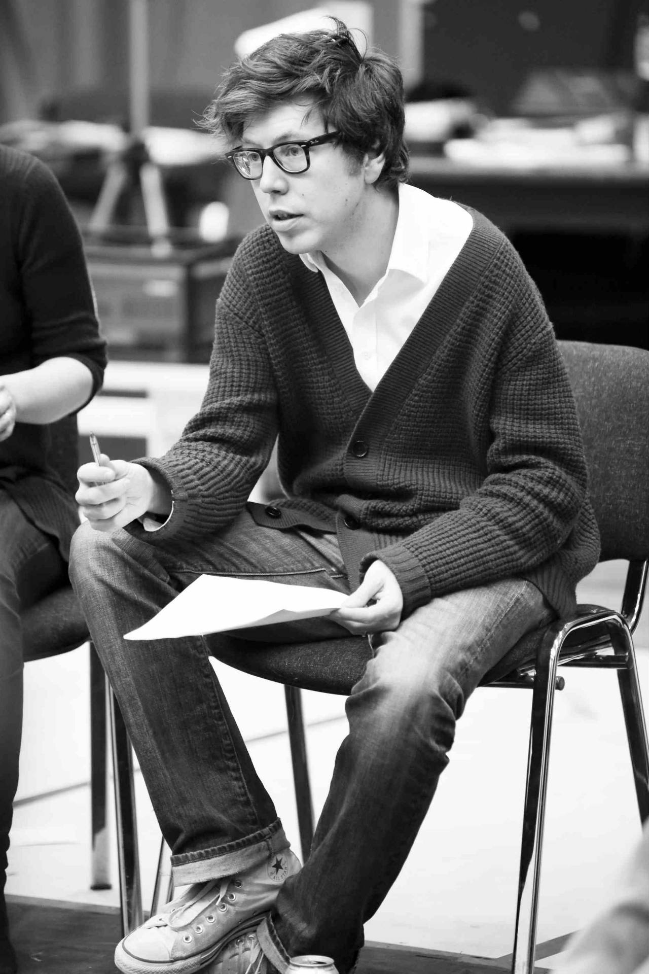Ben Power in rehearsals for Greenland