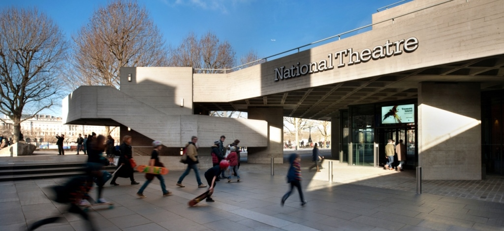 National Theatre entrance during the day