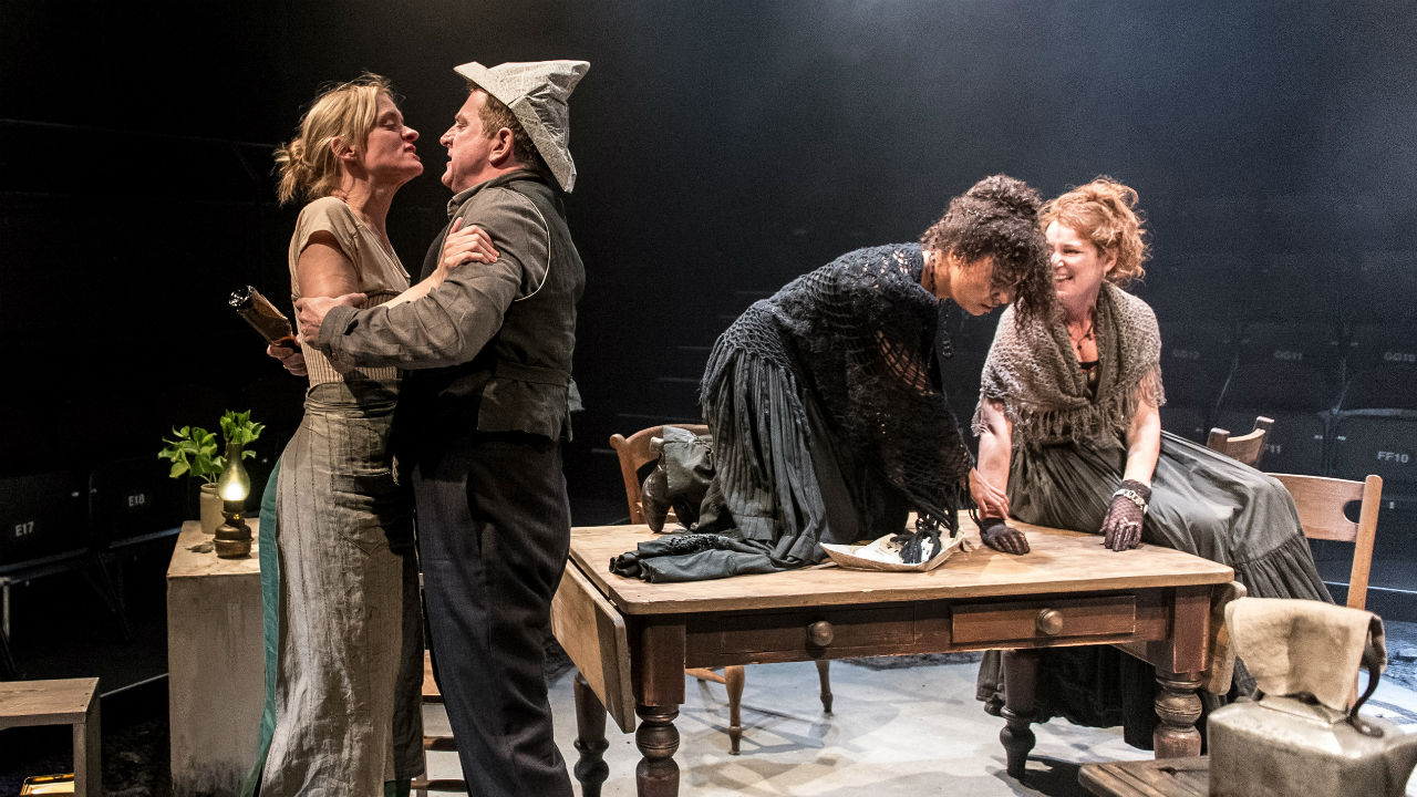 Anne-Marie Duff, Martin Marquez, Tala Gouveia and Josie Walker in Husbands and Sons