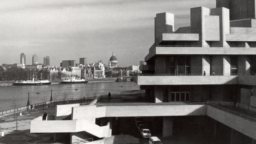 National Theatre exterior in 1977