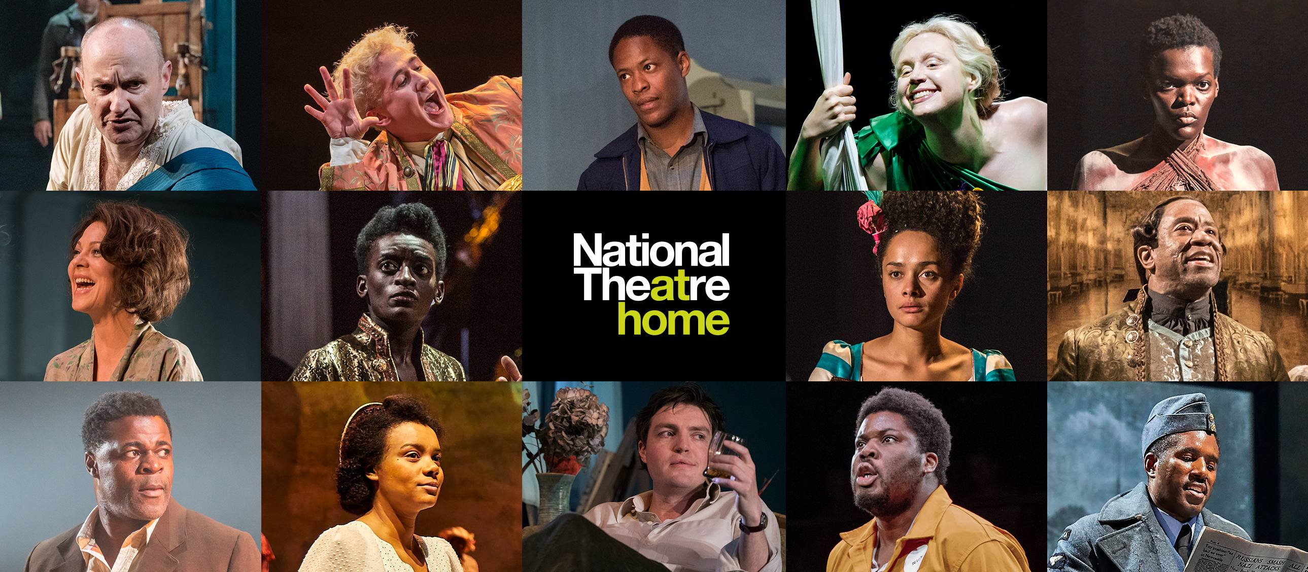 National Thetare at Home - production images of The Madness of George III, Small Island, A Midsummer Night's Dream, Les Blancs, The Deep Blue Sea and Amadeus