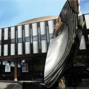 A photograph of the exterior of Nottingham Playhouse
