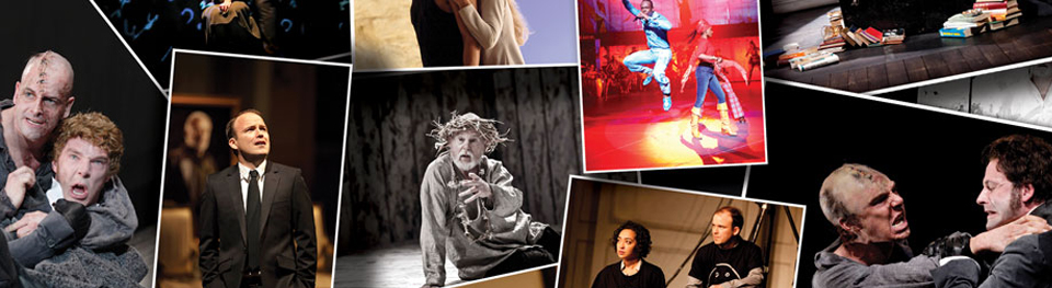 National Theatre Live, with assorted images of past broadcasts