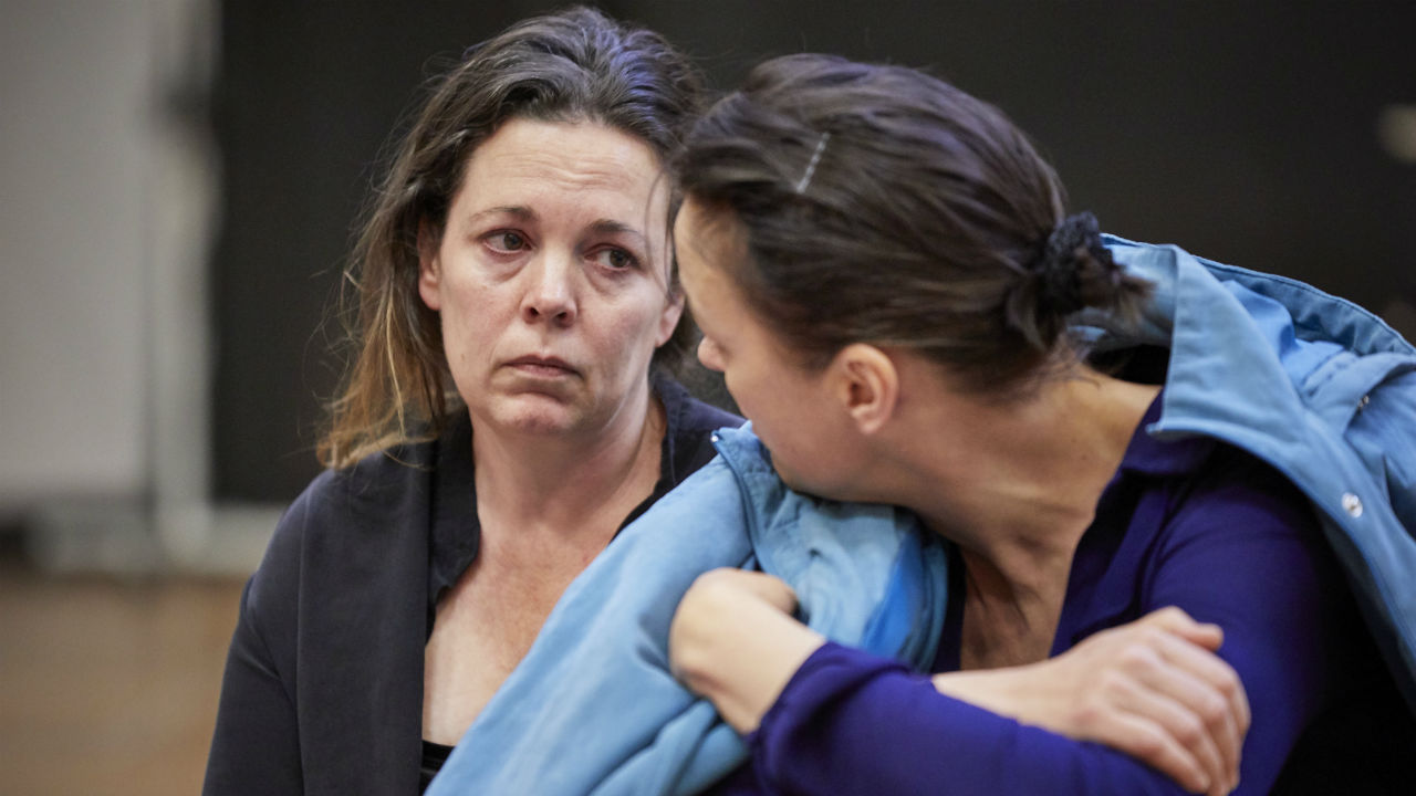 Olivia Colman and Olivia Williams in rehearsals for Mosquitoes