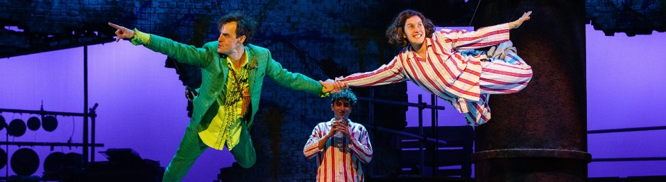 Paul Hilton and Madeleine Worrall in Peter Pan
