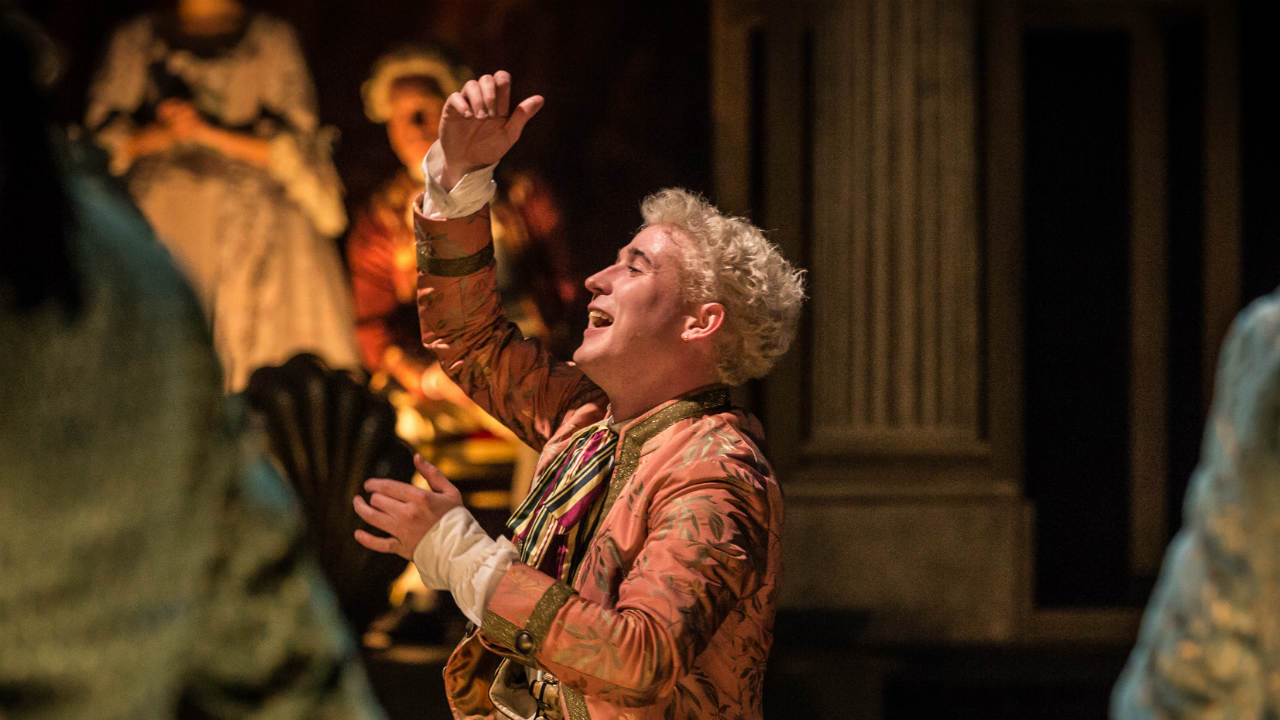 A scene from Amadeus with Adam Gillen