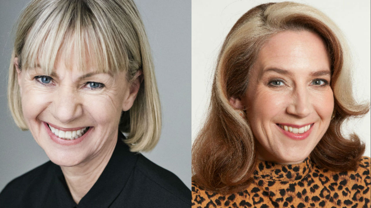 This is two photographs, one is a head-and-shoulders photo of Kate Mosse, and one is a head-and-shoulders photo of Viv Groskop