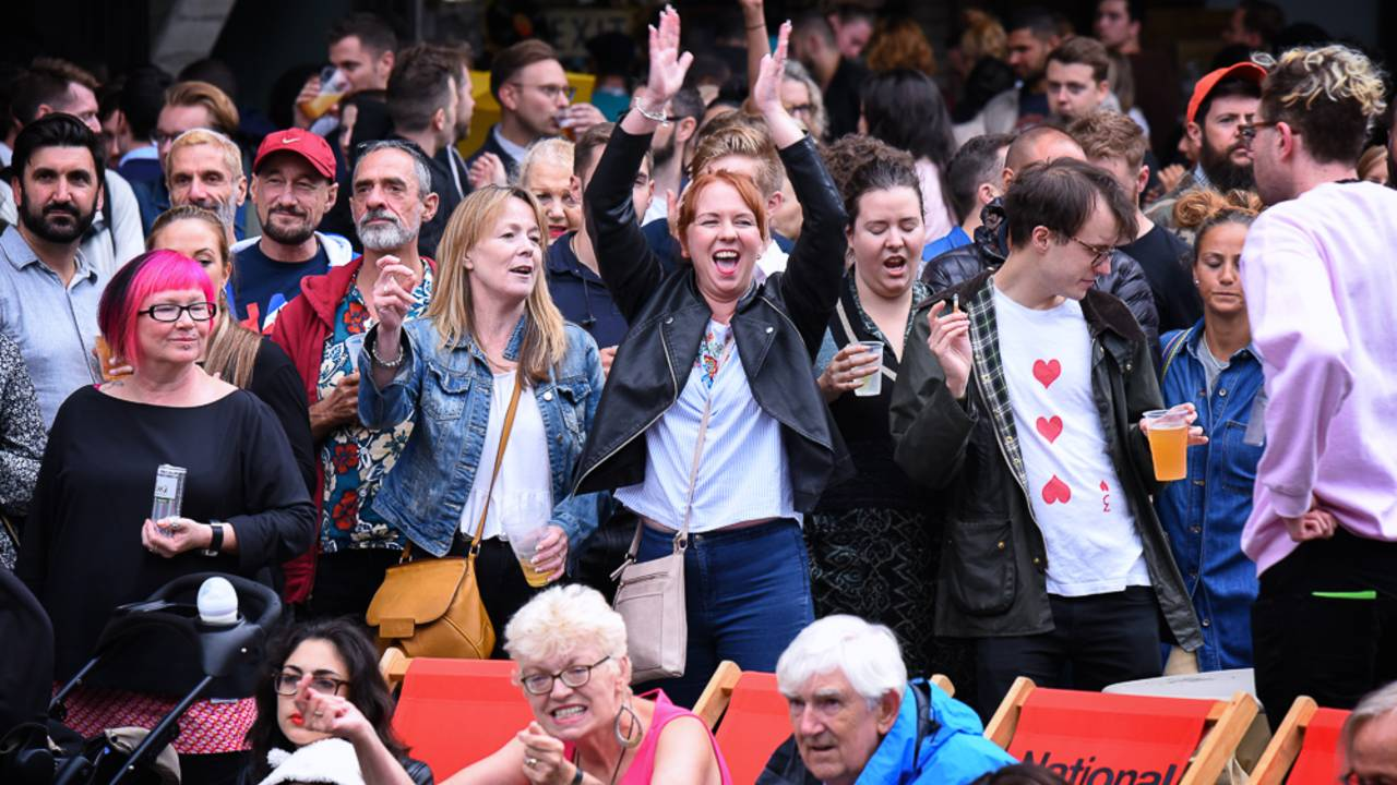 Together for Audiences - people enjoying outdoor entertainment at the National Theatre River Stage