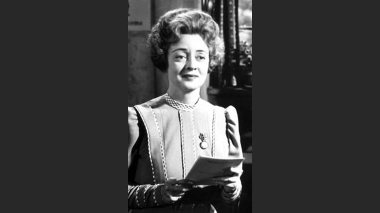 A still of actor Bette Davies in the 1945 film The Corn is Green