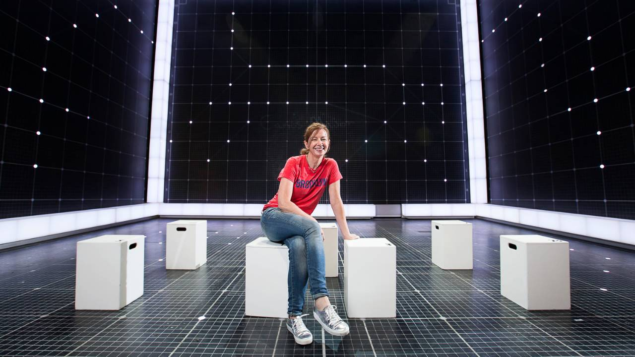 Bunny Christie on the set of Curious Incident...