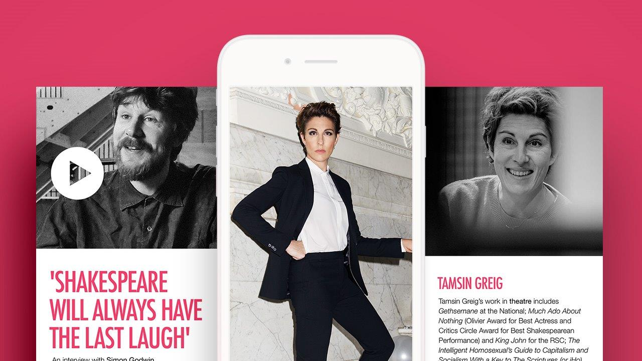 Twelfth Night Digital Programme in the Backstage App