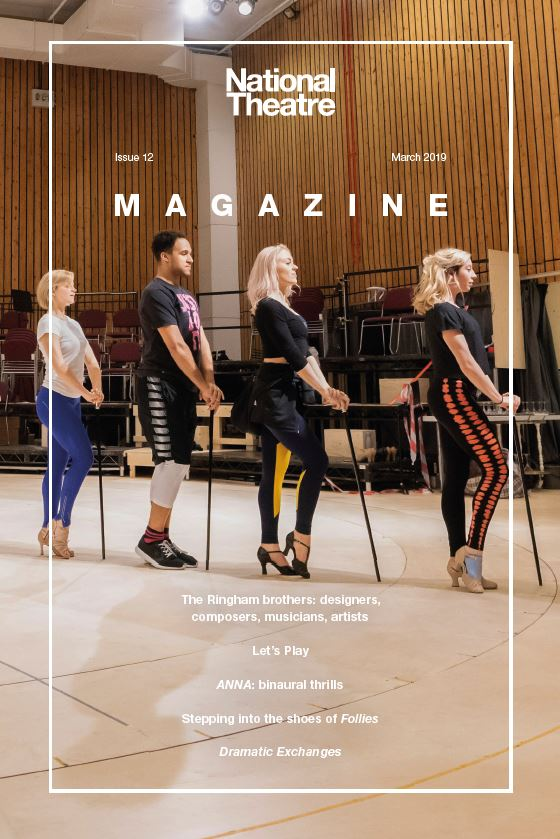 National Theatre Magazine Issue 12 cover with Follies cast in a dance rehearsal