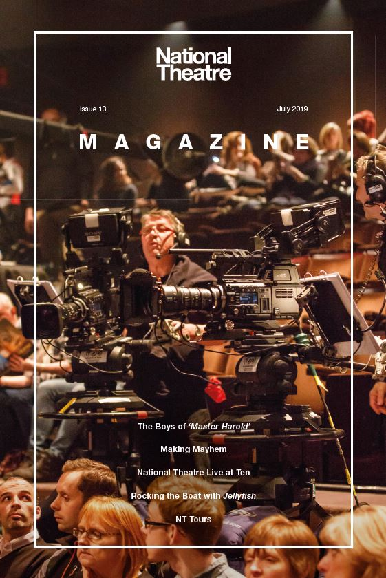 National Theatre Magazine Issue 13 cover with NT Live cameramen