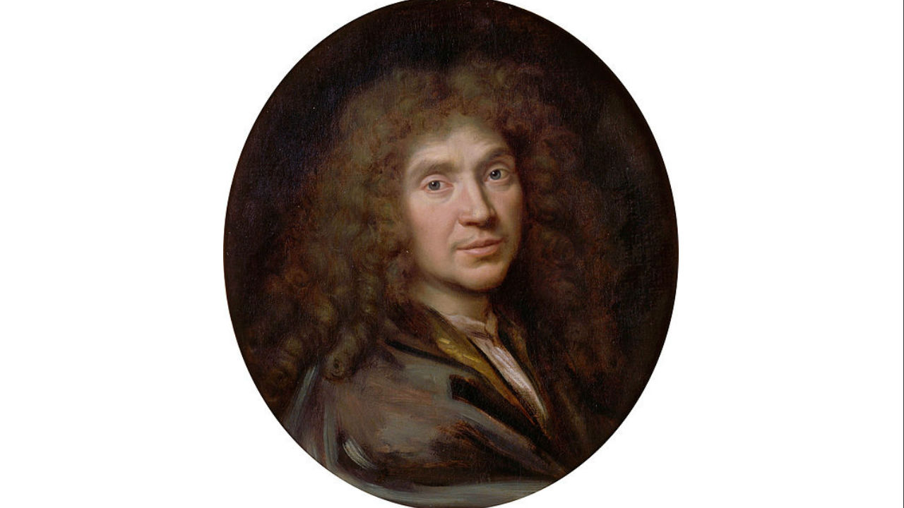 A painting of Molière