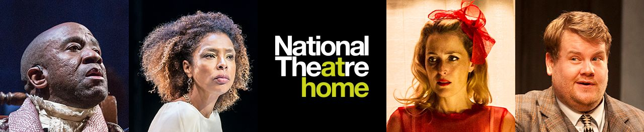 National Theatre at Home - production images of Lucien Msamati in Amadeus, Sophie Okonedo in Antony and Cleopatra, Gillian Anderson in A Streetcar Named Desire and James Corden in One Man, Two Guvnors