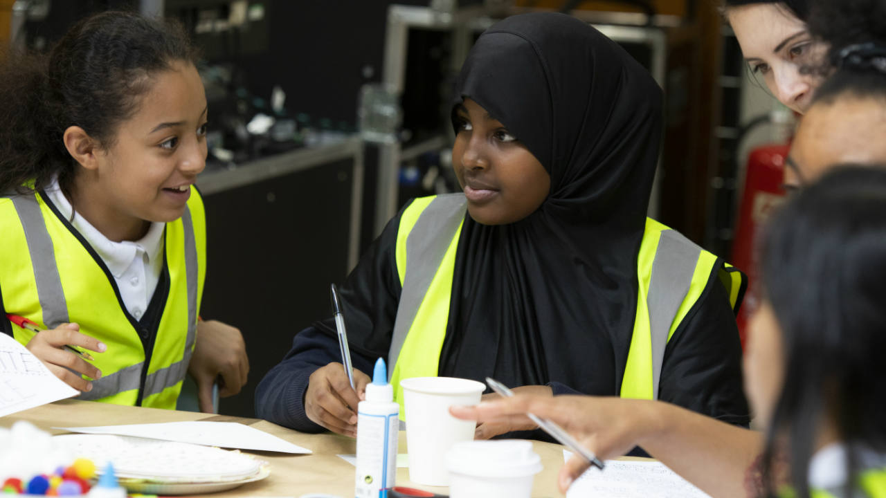 An image of young people taking part in a Primary Make Theatre Day
