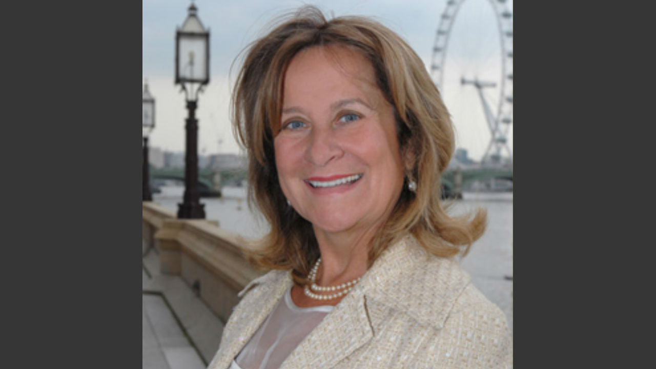 A photograph of the talk leader; Helena Kennedy