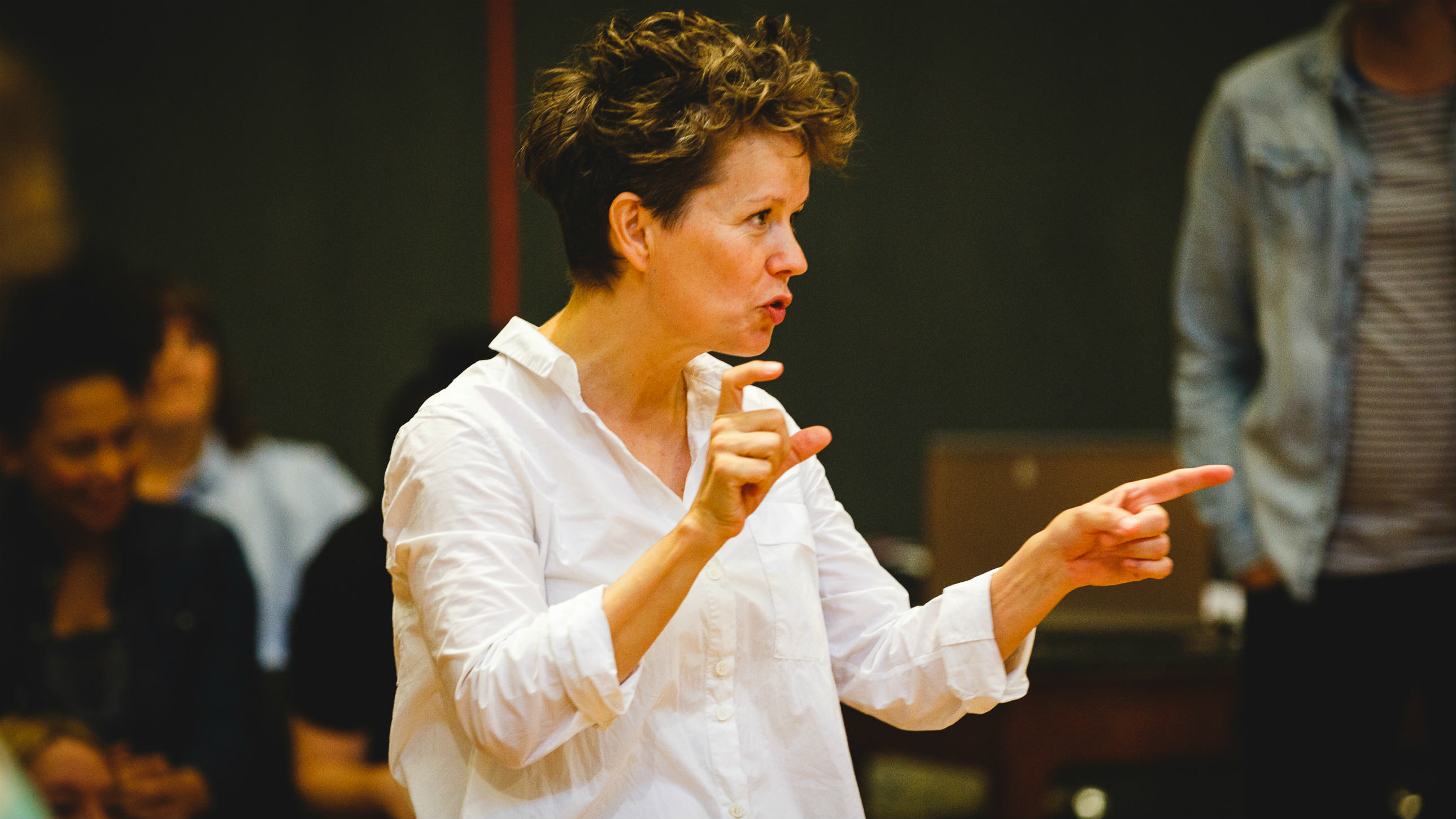 Sally Cookson in rehearsal for Peter Pan 2016