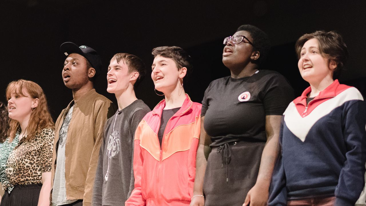Young People performing in an NT young people session