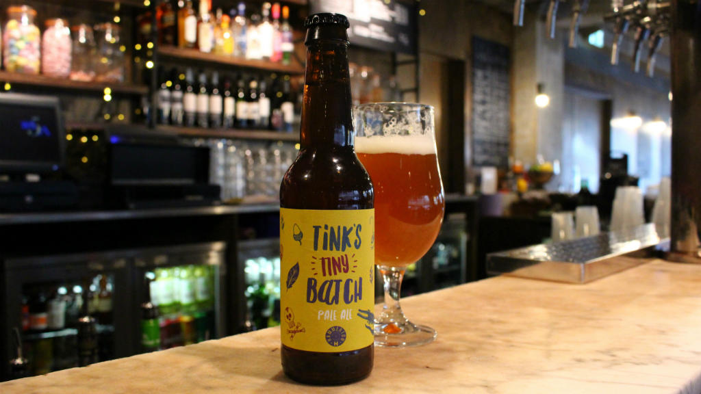 Tinks Tiny Batch - beer bottle brewed for the National Theatre