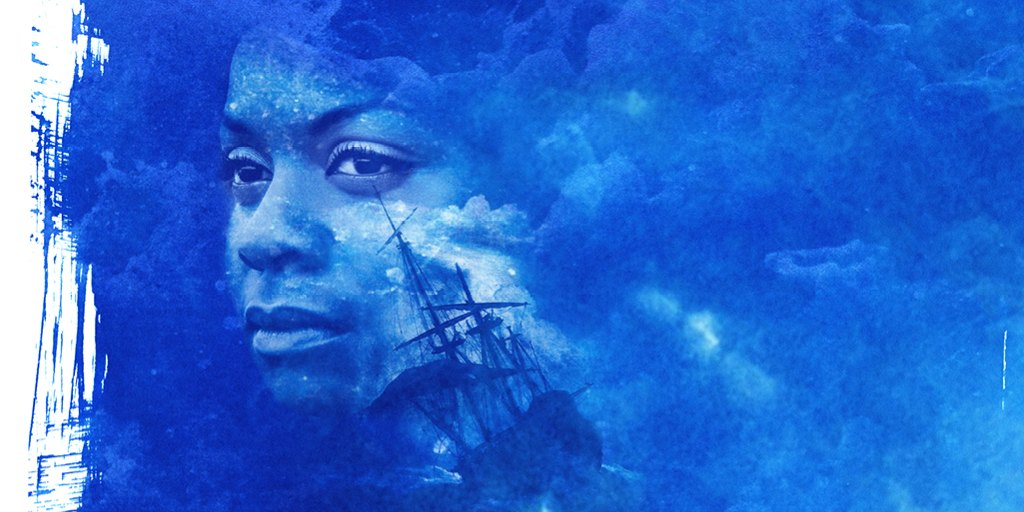 Show image for Rockets and Blue Lights showing the Slave Ship by Turner and a cast member
