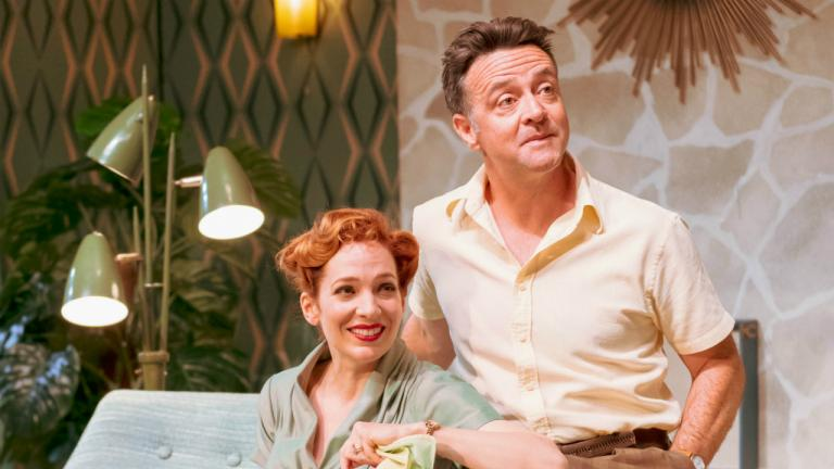 Katherine Parkinson as Judy and Richard Harrington as Johnny in Home I'm Darling
