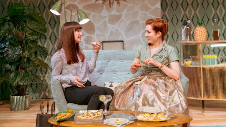 Sara Gregory as Alex and Katherine Parkinson as Judy in Home I'm Darling