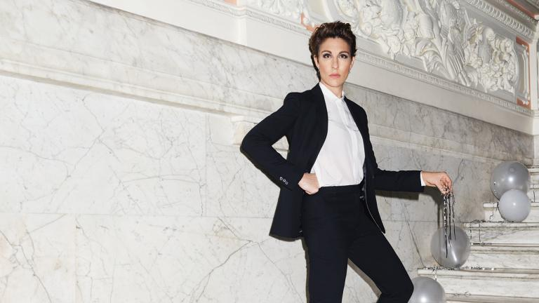 Tamsin Greig in the production artwork for Twelfth Night