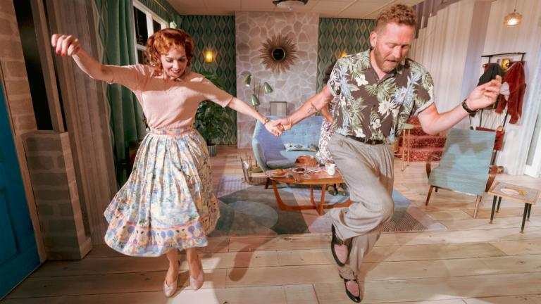 Katherine Parkinson as Judy as Barnaby Kay as Marcus in Home I'm Darling