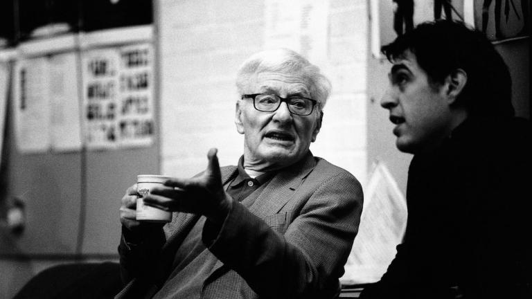 Peter Shaffer in rehearsal