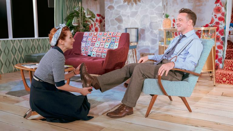 Richard Harrington as Johnny and Katherine Parkinson as Judy in Home I'm Darling