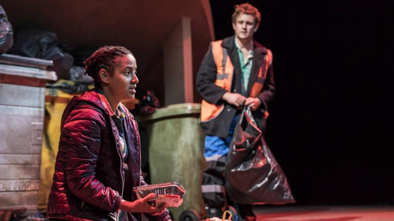 Amaka Okafor (Elsa) and Richard Goulding (Henry) in Saint George and the Dragon