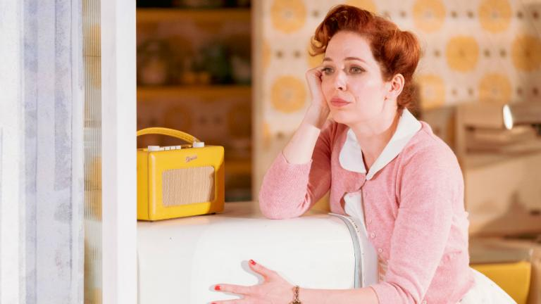 Katherine Parkinson as Judy in Home I'm Darling
