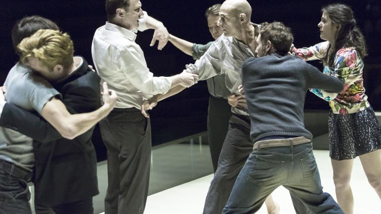 The company of A View From The Bridge at The Young Vic