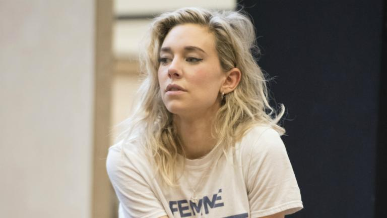 Vanessa Kirby (Julie) in rehearsals for Julie at the National Theatre