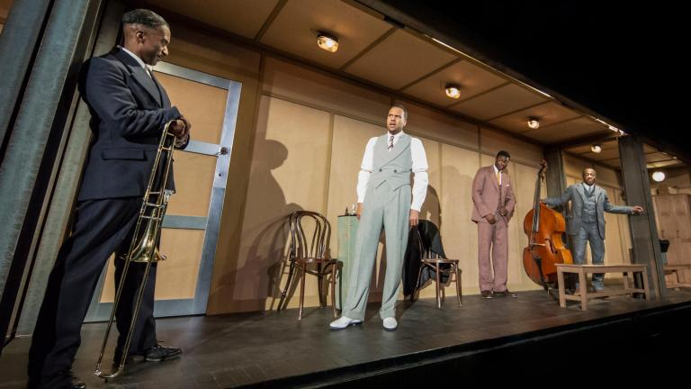 Clint Dyer, O-T Fagbenle, Tunji Lucas and Giles Terera. Photo by Johan Persson.