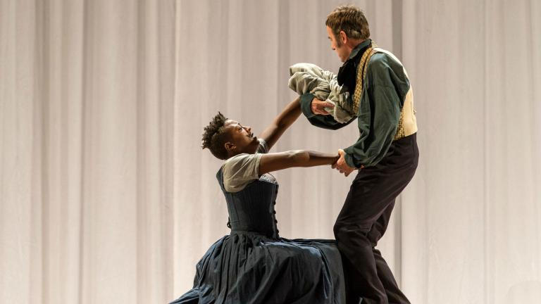 Jane Eyre production photo with Simone Saunders and Craig Edwards.