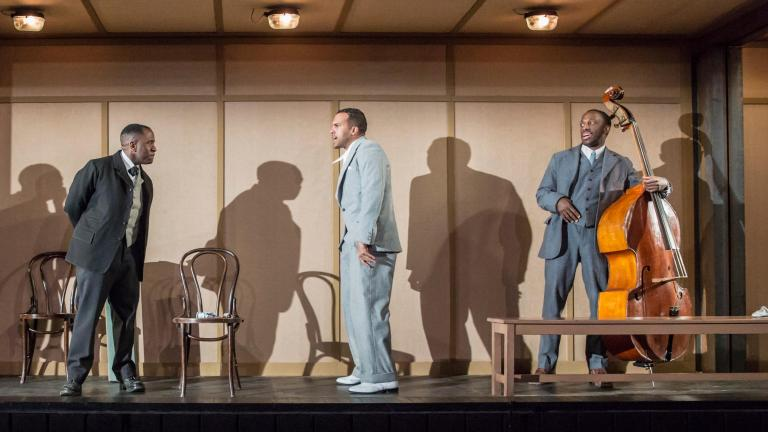 Lucian Msamati, O-T Fagbenle and Giles Terera. Photo by Johan Persson.