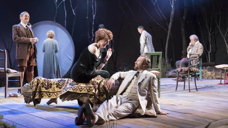 A scene from The  Seagull, centre Anna Chancellor, Geoffrey Streatfeild.