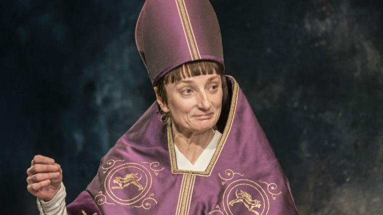 Amanda Lawrence as Pope Joan in Top Girls by Caryl Churchill