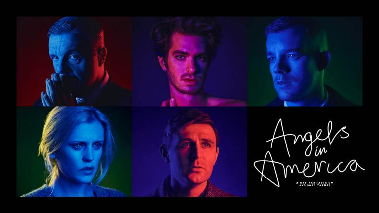 Angels in America Cast portraits, Nathan Lane, Denise Gough, Andrew Garfield, James McArdle and Russell Tovey