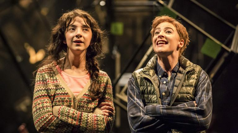 As You Like It production photo of Patsy Ferran and Rosalie Craig
