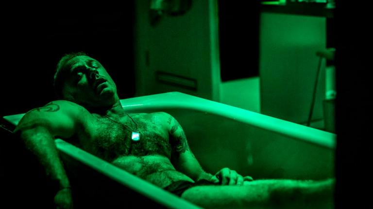 A Streetcar Named Desire with photo of Ben Foster lying in a bathtub