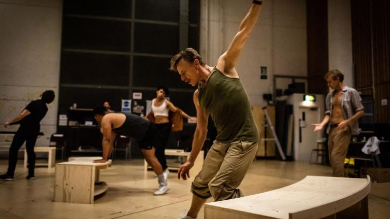 Ben Daniels and company in rehearsals for The Normal Heart