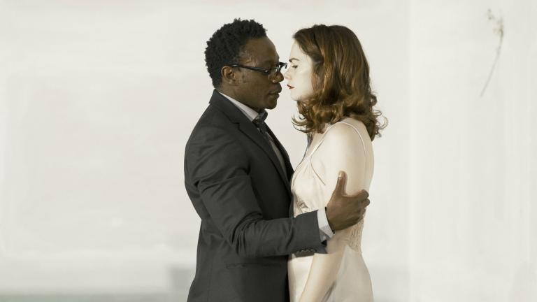 Chukwudi Iwuji and Ruth Wilson in Hedda Gabler